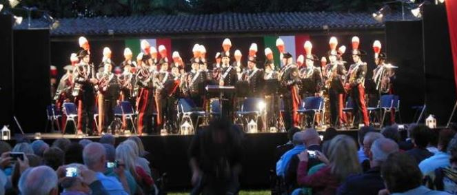 Rotonda Diaz, fanfare dei Carabinieri 19 luglio 2014 concerto
